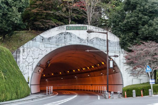 Vyzdoba tunelu v Utsunomiyi